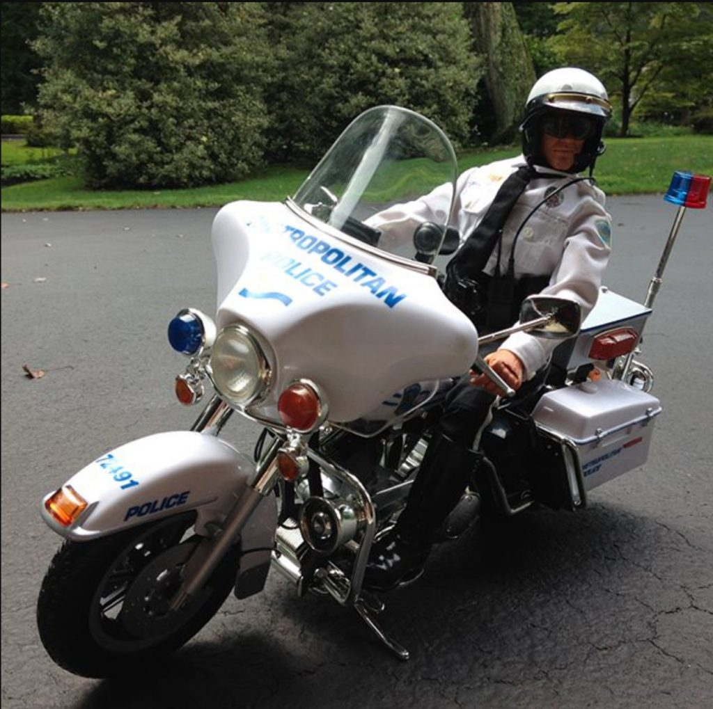 2001 GI Joe Figure, Electra Glide Police Harley