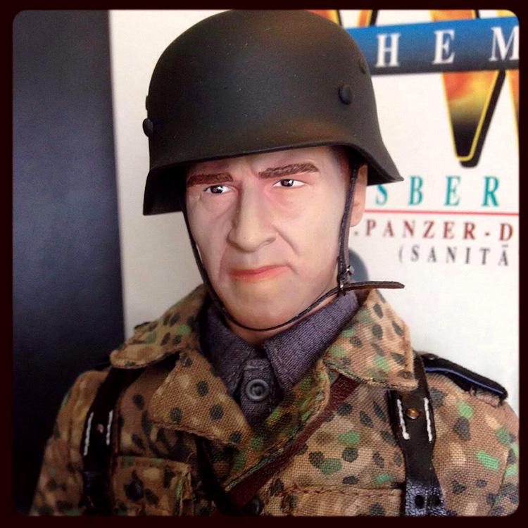 figure with helmet on