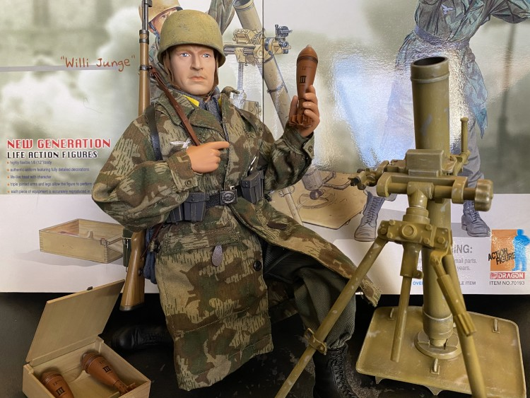 willi with mortar